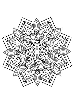 Mandala from free book for 10 | Mandalas - JustColor : Discover all our printable coloring pages for adults, to print or download for free !