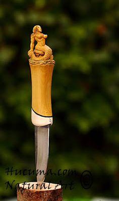 HUCUMA. artesanía en hueso y de diseño. cuchillo pukko artesanal De sirena
