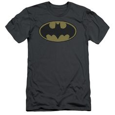 BATMAN/LITTLE LOGOS - S/S ADULT 30/1 - CHARCOAL -