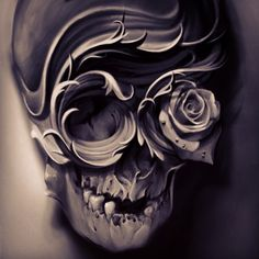 None of these images are mine =) Skull Tattoo Design, Skull Design, Skull Tattoos, Body Art Tattoos, Cool Tattoos, Tattoo Designs, Tattoo Studio, Tattoo Caveira, Filigree Tattoo