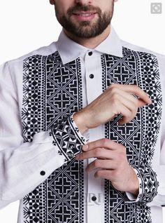 "Embroidered men's shirt ""Kozak"" Modern Embroidery, Autumn Winter Fashion, Needlework, Branding Design, Mens Fashion, Shirt Dress, Sewing, Embroidered Shirts, Pattern"