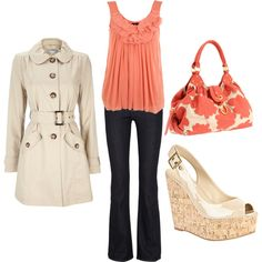 Coral, created by #styleofe on polyvore.com