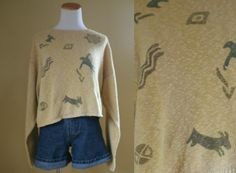 1990's Cave Dweller Sweater  90's Sweater  by LittleGhostVintage