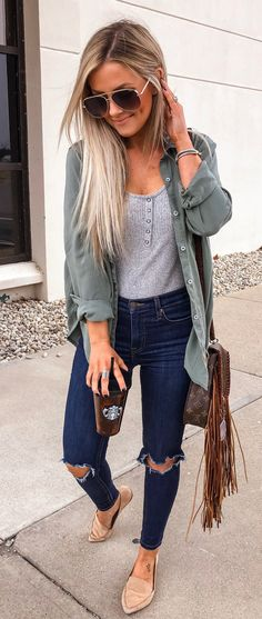 Fashion Tips Winter 52 Cute Spring Outfits for Women 2019 - Artbrid -.Fashion Tips Winter 52 Cute Spring Outfits for Women 2019 - Artbrid - Cute Spring Outfits, Cute Casual Outfits, Fall Winter Outfits, Casual Summer Outfits With Jeans, Spring Outfits Women Casual, Simple Summer Outfits, Mode Outfits, Fashion Outfits, 30 Outfits