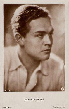 Gustav Fröhlich Fritz Lang, Natural Man, Hollywood, Vintage Postcards, Famous People, Beautiful Men, Cinema, Singer, Male Celebrities