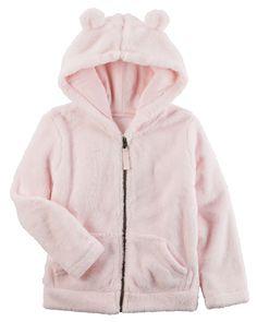 Toddler Girl Sherpa Hoodie   Carters.com
