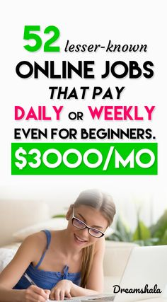 "online jobs that pay daily or weekly or immediately. online jobs that pay daily or weekly or immediately.,Best Of ""Dreamshala"" – Make Money Online online jobs that pay daily or weekly or immediately. Legit Online Jobs, Online Jobs From Home, Work From Home Jobs, Online Work, Online Group, Earn Money From Home, Make Money Blogging, Earn Money Online, Money Today"