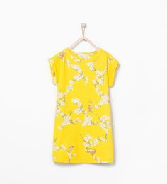 Bird print dress - View all - Dresses - Girl (3 - 14 years) - KIDS | ZARA United States