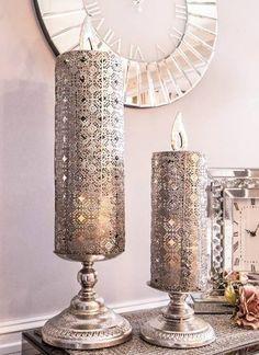 En unik og trendy nettbutikk som setter pris på vakre og unike ting Candle Holders, Candles, Chic, Shabby Chic, Elegant, Classy, Candy, Light House, Candle
