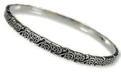 """Clarie's Celtic Thistle Bangle"" from The Author's Attic- pretty"