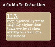 A Guide To Deduction — Suggested by: strausmouse Mind Reading Tricks, Mind Tricks, Forensic Psychology, Psychology Facts, Book Writing Tips, Writing Prompts, Mbti, Guide To Manipulation, A Guide To Deduction
