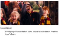"And then there's Dean. | 19 Tumblr Posts About ""Harry Potter"" That Will Make Your Day"