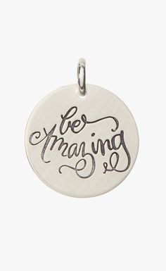 Sterling Silver 'Be Amazing' Charm