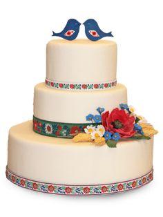 Poschodové svadobné torty