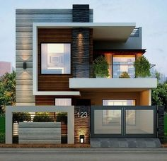 Modern House Exterior Inspirations about Home Decorations, Garden, Interior Design, Architecture, etc.By Posted on April House Exterio Bungalow House Design, House Front Design, Tiny House Design, Architect Design House, Beautiful Modern Homes, Modern Tiny House, House Beautiful, House Ideas, Minimalist House Design