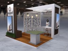 small booth Proposed desgin for Orchard Park Jakarta Exhibition Stall, Exhibition Stand Design, Exhibition Ideas, Trade Show Design, Orchard Park, Booth Design, Jakarta, Exhibitions, Display