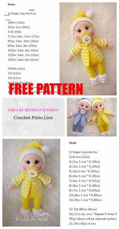Crochet Chain Stitch, Single Crochet Stitch, Basic Crochet Stitches, Crochet Basics, Crochet Amigurumi Free Patterns, Crochet Doll Pattern, Crochet Dolls, Free Crochet, Easy Stitch