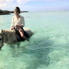 horse back riding in the water!