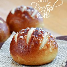 Oh my goodness friends! These Soft Pretzel Rolls are amazing and totally worth your time and effort in the kitchen. They have a chewy, golden outer crust and a soft center, just like a soft pretzel. Bagels, Pretzel Rolls, Pretzel Bun Recipe, Pretzel Bread Recipes, German Pretzel Roll Recipe, Quiches, Food Dishes, Baked Goods, Gastronomia
