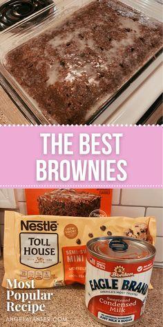 Brownie Mix Recipes, Best Brownie Recipe, Brownie Desserts, Dump Cake Recipes, Dessert Recipes, Dump Cakes, Dessert Bars, Easy Recipes, Crack Brownies