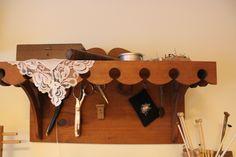 Old homemade scissors shelf