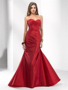 P1503 - Elegant class. This all-taffeta A-line gown has asymmetrical ruching for the perfect fit, topped off with a sweetheart neckline and corset back for simplistic beauty.