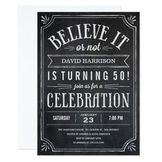 Believe it or Not Birthday Party Invitations
