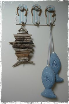 Hanging Driftwood Fish by woodandrope on Etsy, £15.00
