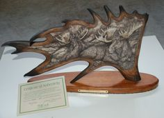 This Moose antler carving this is a timless piece of art