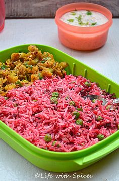Beetroot Ginger Rice