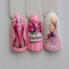 Alexandra Kurbanalieva Pastel Nails, Pink Nails, Gel Nails, Acrylic Nails, Fancy Nails, Cute Nails, Pretty Nails, Nail Drawing, Romantic Nails