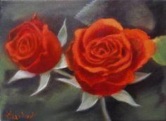 "Saatchi Art Artist ΑγγελικΗ Ageliki; Painting, ""Two red roses"" #art"