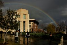 Fresno State Rainbow over Science II Building, Jan. 2016
