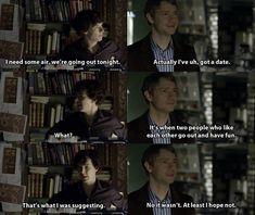 Soooo um.... Johnlock fans.... Watson was completely against going out on a date with Sherlock.... JUST LETTIN YOU KNOW