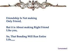 Friendship Is Not Making Only Friend Friendship Sms, Bond, Hair Accessories, How To Make, Hair Accessory