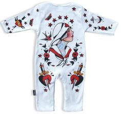 TATTOO PARLOR, Six Bunnies Baby, Playsuit at Switchblade Clothing
