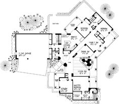 This adobe / southwestern design floor plan is 2350 sq ft and has 3 bedrooms and has bathrooms. Southwestern Style, Baths, Adobe, House Plans, House Ideas, Floor Plans, Flooring, How To Plan, Contemporary