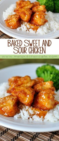 Easily the most popular recipe, this baked sweet and sour chicken is a miracle of a dish. Baked, not fried, it has been a family favorite for over a decade! Asian Recipes, New Recipes, Yummy Recipes, Dinner Recipes, Healthy Recipes, Family Recipes, Recipies, Bariatric Recipes, Mexican Recipes