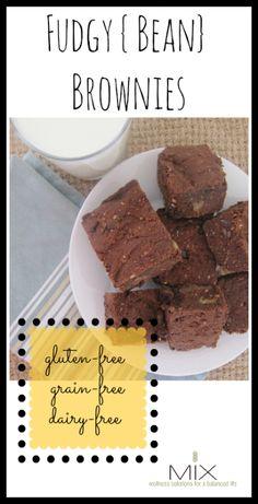 Fudgy {Bean} Brownies {Gluten-Free, Dairy-Free, Grain-Free}   www.mixwellness.com