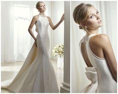Divina Sposa collection 2017, aperçu de face et de dos de la robe de mariée 18