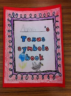 This would be a great idea for students to make, while learning about Texas symbols.