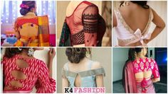 Back blouse designs for your stylish look are waiting for you. Get Glamorous with these stylish blouse designs. Latest Saree Blouse, Saree Blouse Neck Designs, Stylish Blouse Design, Fancy Blouse Designs, Designer Blouse Patterns, Designer Dresses, Modern Saree, Fancy Sarees, Beautiful Blouses