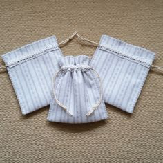 Set of 3 hand stitched felt drawstring Gift Bags £9.00