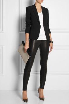 T by Alexander Wang top, Eddie Borgo cuff, Fendi cuff, J Brand jeans, Christian Louboutin shoes, Victoria Beckham clutch.