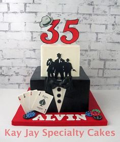 Harlem Nights Themed Birthday Cake Custom Cakes By Cake