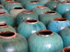 Amazing green glazed antique Chinese ginger jars