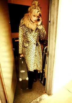 Kate Moss inspired w/ leopard trench
