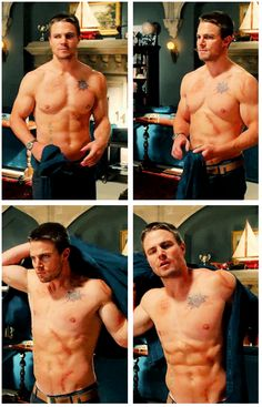 Feeling down? Have a shirtless Oliver GIFset.