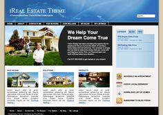 iReal Estate is one of our most popular themes with multiple page templates, and is designed specifically for business websites who want an integrated blog, including real estate agents.