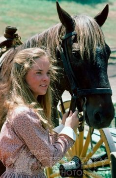 Little House on the Prairie  - Mary and a horse